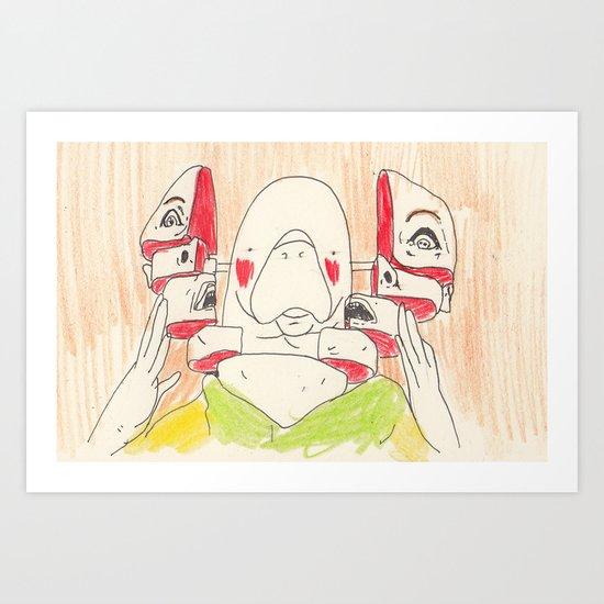 Total Recall Manatee Art Print
