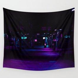 Cyberpunk Future Hallway Wall Tapestry