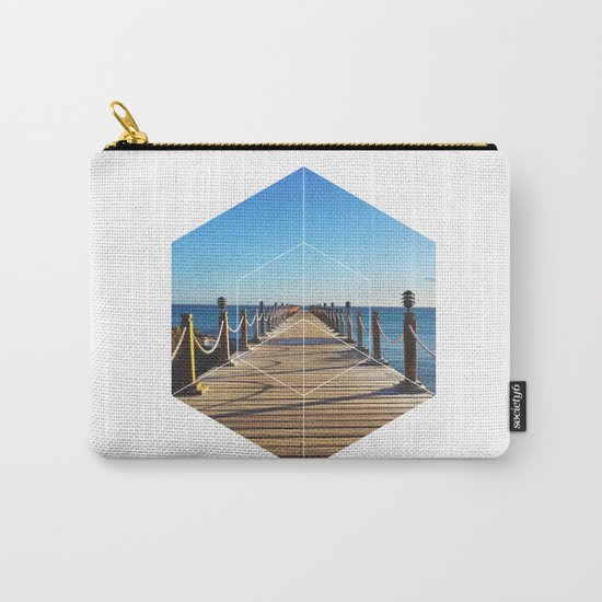 Ocean Walk - Geometric Photography Carry-All Pouch