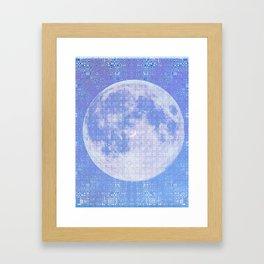 Magick Square Moon Invocation Framed Art Print