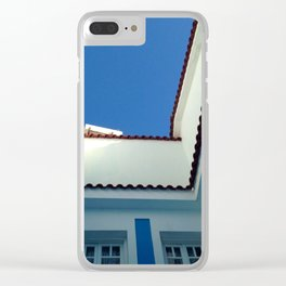 Blue Sky in Greece Clear iPhone Case