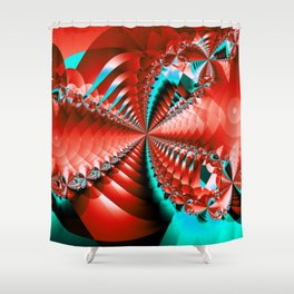 Fractal - Hypnotized Eyes Shower Curtain