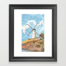 Windmill Against a Blue Sky Framed Art Print