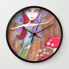 Forest Faerie Wall Clock