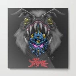 Guyver and Enzyme. Metal Print