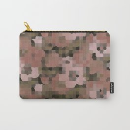 Pixelated Flowers Carry-All Pouch