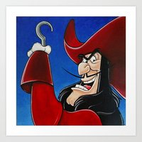 hook Art Prints featuring Hook by Laura-A