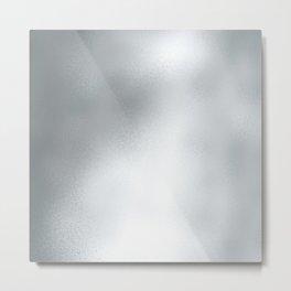 Elegant abstract faux silver foil gradient Metal Print