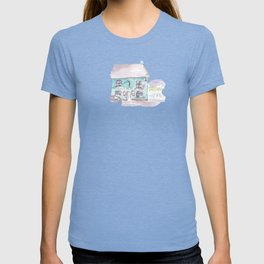 The bar on the corner, Dingle, County Kerry, Ireland watercolor T-shirt