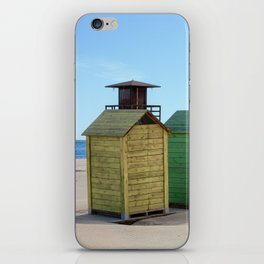 Colorful beach cabinets iPhone Skin