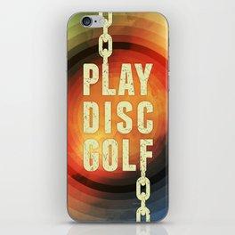 Play Disc Golf iPhone Skin