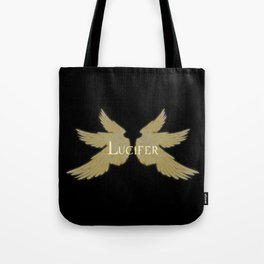 Lucifer with Wings Light Tote Bag