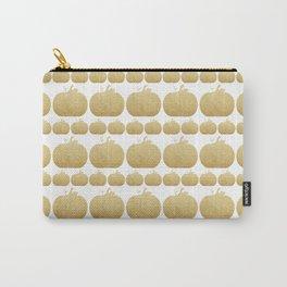 Gold Glitter Pumpkin Carry-All Pouch