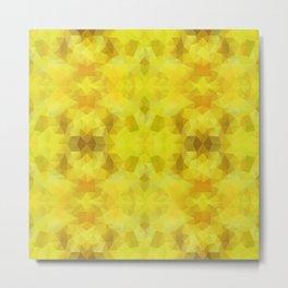 Triangles design in yelow colors Metal Print