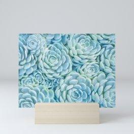 Blue succulents II Mini Art Print
