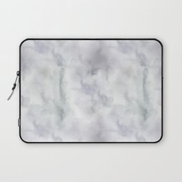 Abstract modern gray lavender watercolor pattern Laptop Sleeve