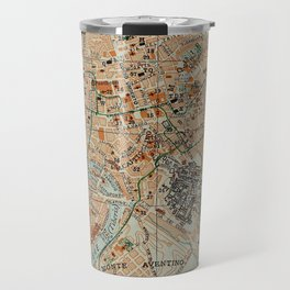 Vintage Map of Rome Italy (1911) Travel Mug