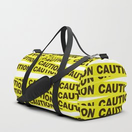 Caution Tape Duffle Bag