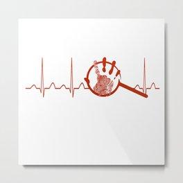 Forensic Scientist Heartbeat Metal Print