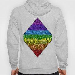 Geometric Rainbow Seven Chakras Hoody