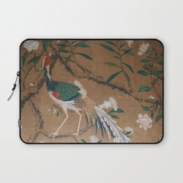 Antique French Chinoiserie in Tan & White Laptop Sleeve