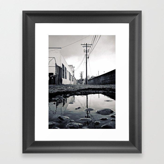 Urban Tacoma alley Framed Art Print