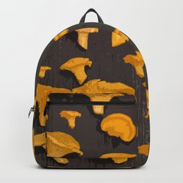 Chantterelles On A Dark Grey Background - Autumn Harvest - #Society6 #buyart Backpack