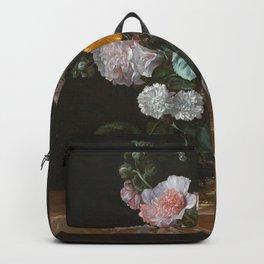 Willem Van Aelst - Vanitas Flower Still Life Backpack