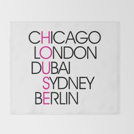 Worldwide House EDM Quote Throw Blanket