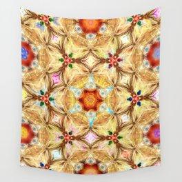 kaleidoscope - releitura de um jardim Wall Tapestry