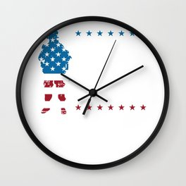 On Friday We Wear RED Remember Everyone Deployed Wall Clock