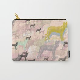 Sky Dogs - Abstract Geometric pink mauve mint grey orange Carry-All Pouch