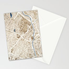 Los Angeles California City Map Stationery Cards