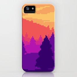 8-bit sunset iPhone Case