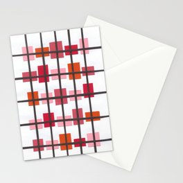 Rectangles in Pink/Orange Stationery Cards