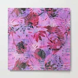 Motuu Tropical pink & Black Metal Print
