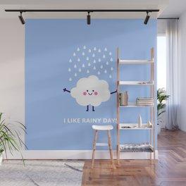 Cute rain cloud Wall Mural