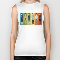 tegan and sara Biker Tanks featuring Tegan and Sara: Tegan collection by Cas.