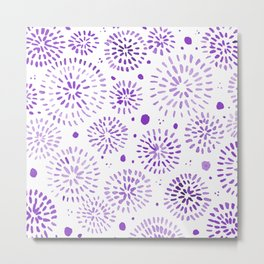 Abstract watercolor sparkles – ultra violet Metal Print