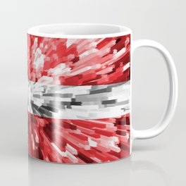 Extruded Flag of Denmark Coffee Mug