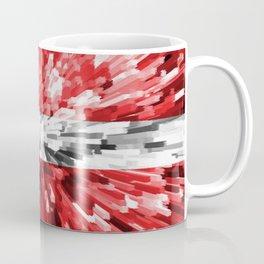 Extruded Flag of Denmark Coffee Mug