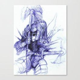 Warrior Kneel Canvas Print