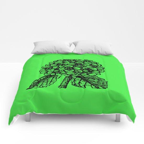 Green Hydrangea Comforters