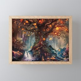 Magnificent Big Marvelous Magic Glowing Fairytale Forest Tree Light Bulbs Dreamland Ultra HD Framed Mini Art Print