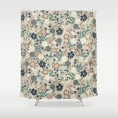 Flourishing Florals (Light-Green) Shower Curtain