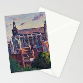 Cathedral at Gisors, View of the Ramparts, Paris, France by Maximilien Luce Stationery Cards