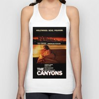 "lindsay lohan Tank Tops featuring Lindsay Lohan ""The Canyons"" French Film Poster by Eric Terino"