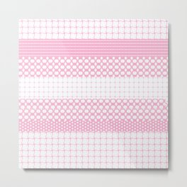 Pretty Pink Patterns Metal Print