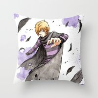 leon Throw Pillows featuring Leon by Owly Fa