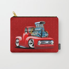 American Classic Hotrod Pickup Truck Cartoon Carry-All Pouch